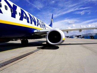 Ryanair kurz vor Start in der Ukraine